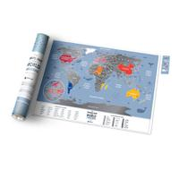 Карта travel map weekend world, 1DEA.me